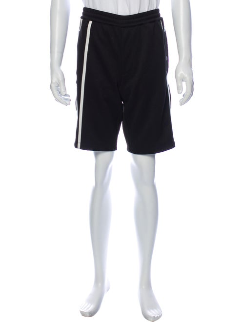 Helmut Lang Striped Athletic Shorts w/ Tags Black
