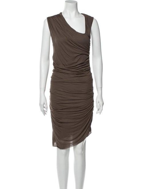 Helmut Lang Asymmetrical Knee-Length Dress