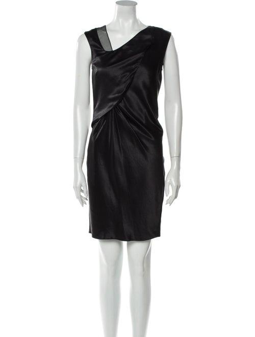 Helmut Lang Asymmetrical Mini Dress Blue