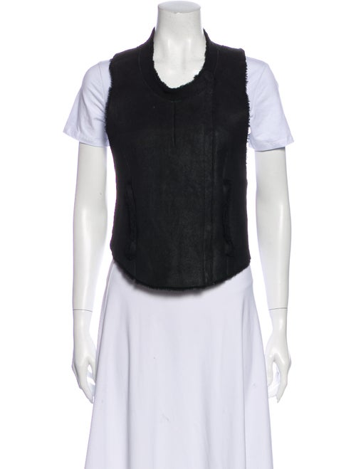 Helmut Lang Leather Vest Black