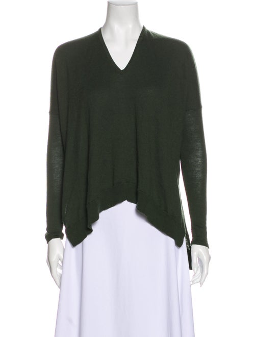 Helmut Lang V-Neck Sweater Green
