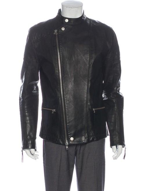 Helmut Lang Leather Moto Jacket Black