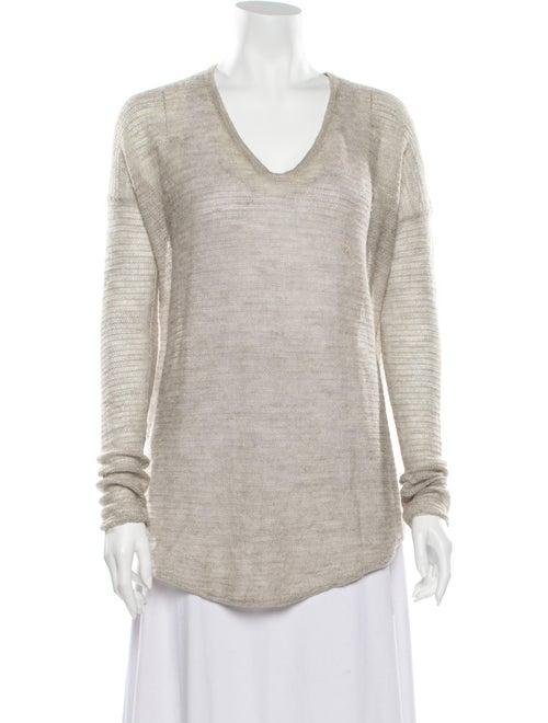 Helmut Lang Alpaca V-Neck Sweater