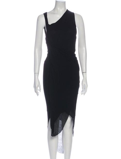 Helmut Lang Asymmetrical Long Dress Black