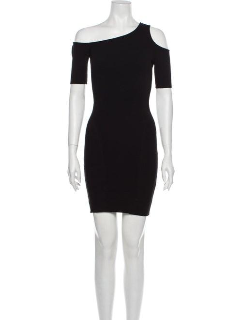 Helmut Lang Asymmetrical Mini Dress Black