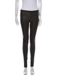 Helmut Lang Lamb Leather Skinny Leg Pants