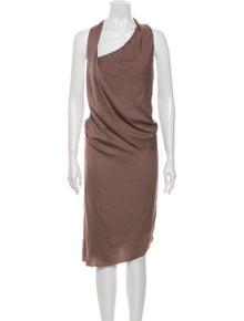 Helmut Lang Asymmetrical Midi Length Dress