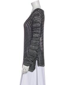 Helmut Lang Patterned V-Neck Sweater