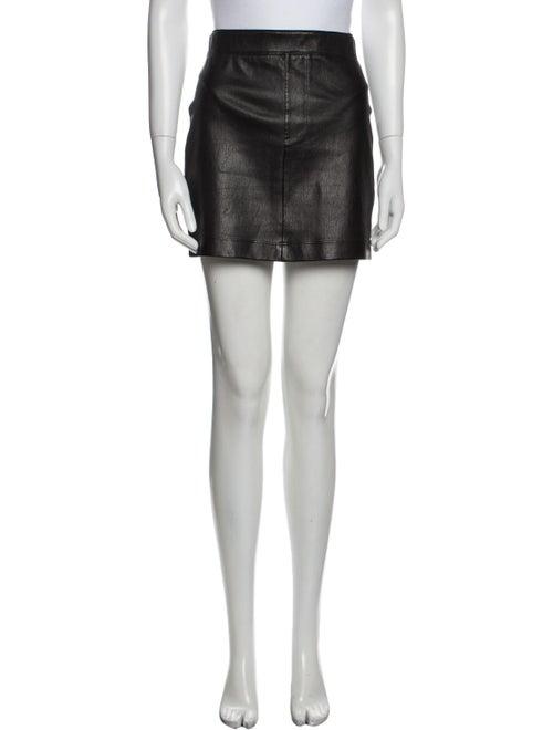 Helmut Lang Lamb Leather Mini Skirt Black