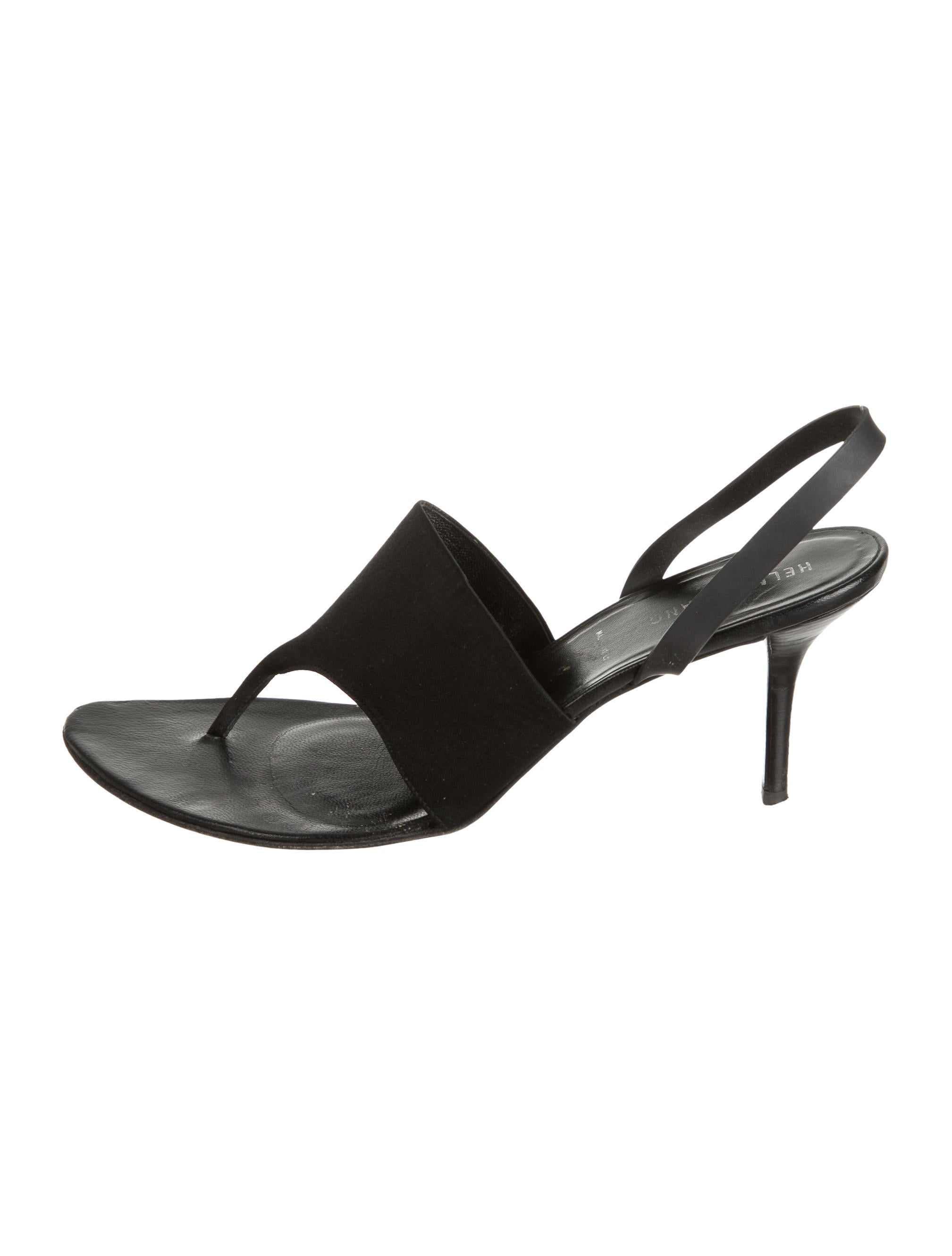 discount official site outlet explore Helmut Lang Leather Slingback Sandals sale purchase sale best prices 9j8ZyOaczn