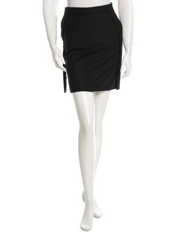 Helmut Lang Virgin Wool Knee-Length Skirt