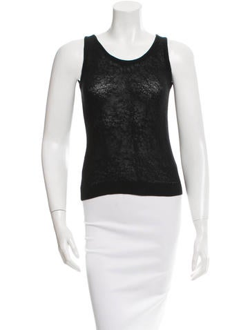 Helmut Lang Sleeveless Crew Neck Top None