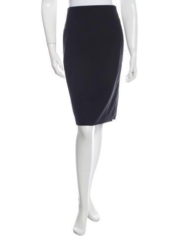 Helmut Lang Wool Pencil Skirt