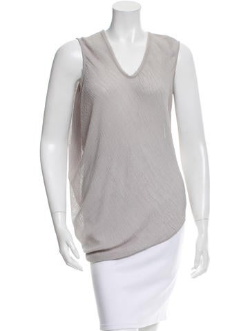 Helmut Lang Raw Edge-Trimmed Asymmetrical Top None