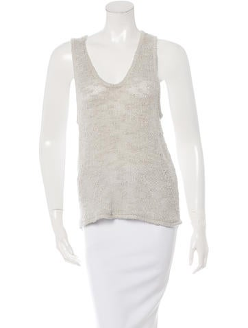 Helmut Lang Silk Knit Top None