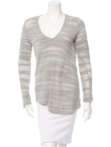 Helmut Lang Textured V-Neck Top None
