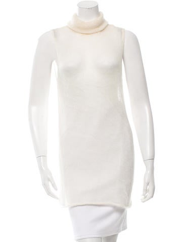 Helmut Lang Mohair & Silk Turtleneck Top None