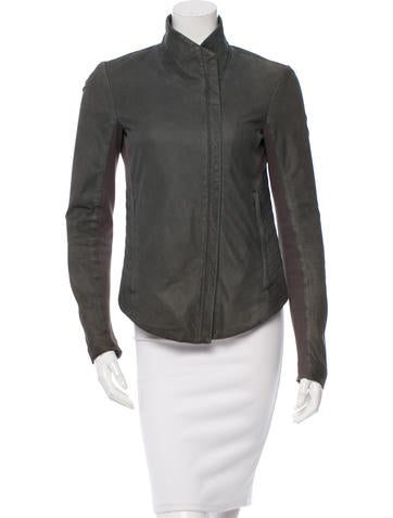 Helmut Lang Asymmetrical Leather Jacket None