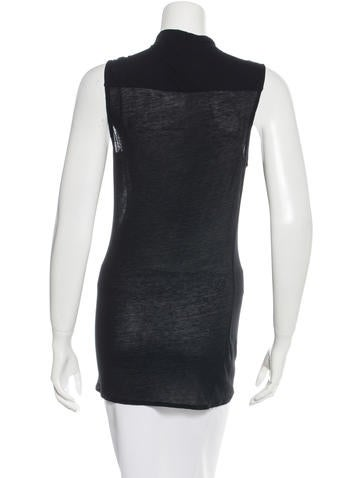 Helmut lang sleeveless mock neck top clothing for Sleeveless mock turtleneck shirts