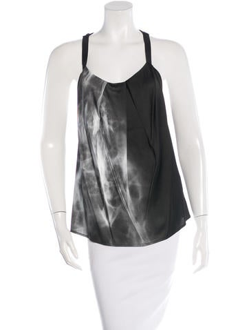 Silk & Angora-Blend Racerback Top w/ Tags