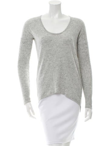 Helmut Lang Wool-Blend Scoop Neck Top None