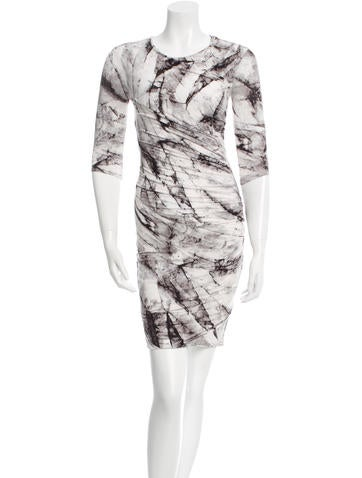 Marble Bodycon Dress