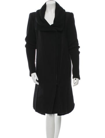 Helmut Lang Wool-Blend Asymmetrical Coat None