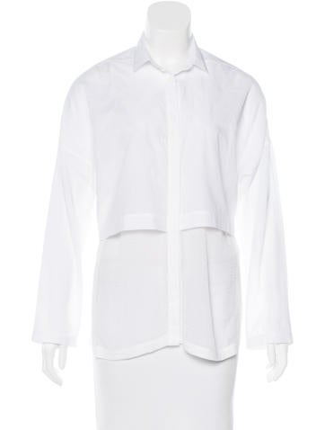 Helmut Lang Layered Button-Up Top