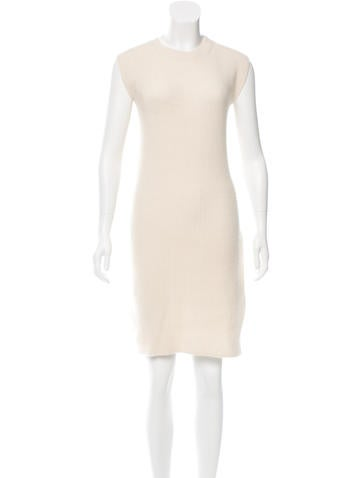 Helmut Lang Sleeveless Rib Knit Dress None