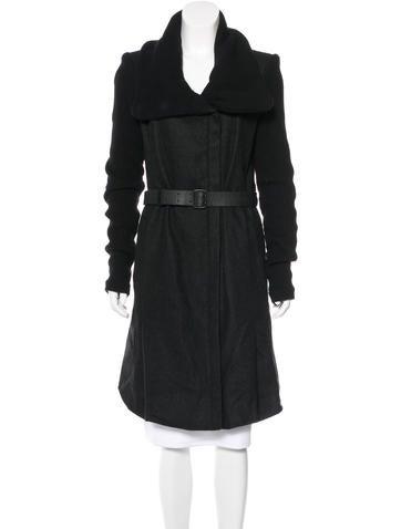 Helmut Lang Wool Belted Coat