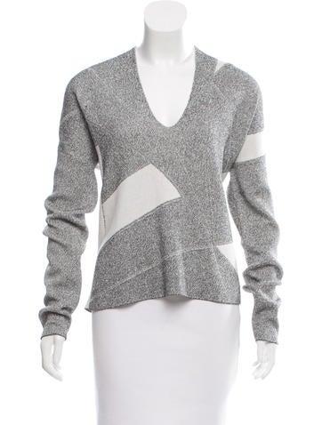 Helmut Lang Knit V-Neck Sweater None