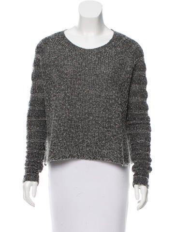 Helmut Lang Cropped Long Sleeve Sweater None