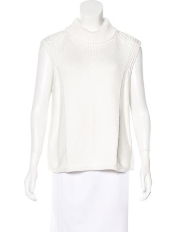 Helmut Lang Open-Knit Turtleneck Sweater None