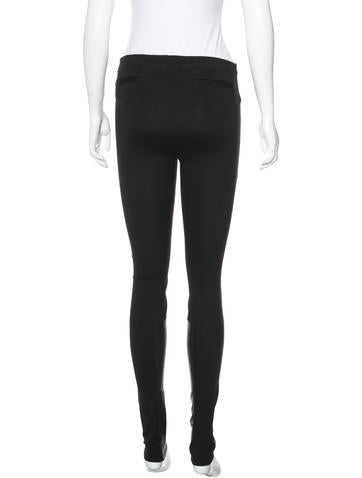 Leather-Accented Stretch Leggins