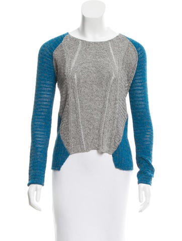 Helmut Lang Open Knit High-Low Sweater None