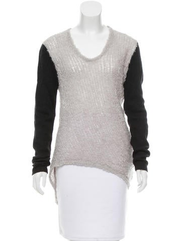 Helmut Lang Alpaca-Blend Asymmetrical Top None