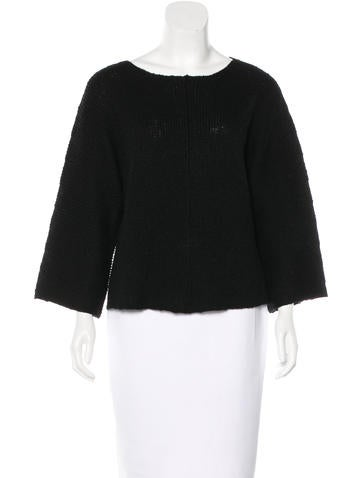 Helmut Lang Cashmere Rib Knit Sweater None