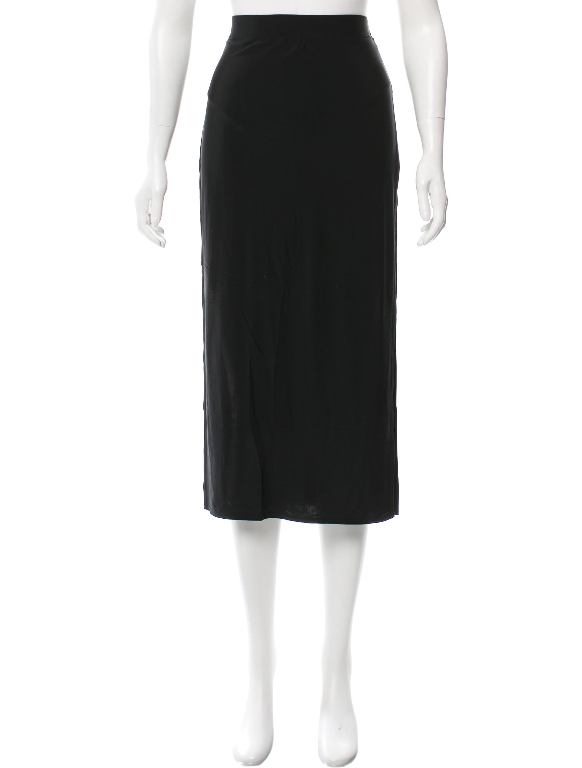 helmut lang slit accented midi skirt clothing
