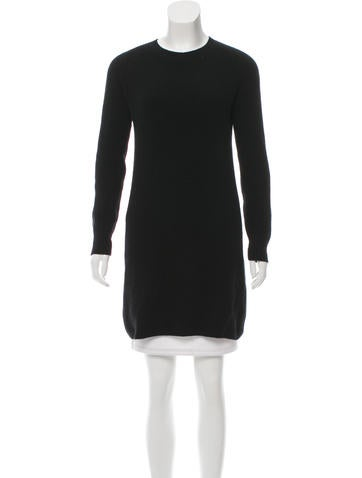 Helmut Lang Rib Knit Wool Sweater None