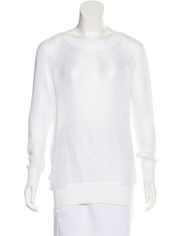 Helmut Lang Mesh Long Sleeve Sweater None