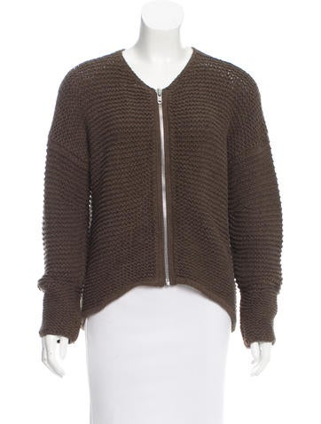 Helmut Lang Knit Zip-Up Sweater None
