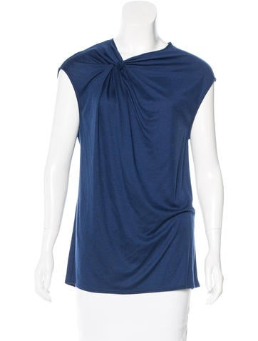Helmut Lang Sleeveless Knotted Top None