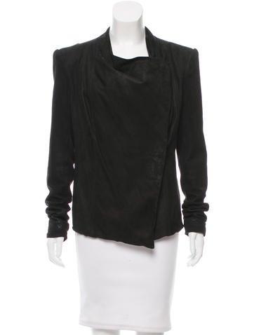 Helmut Lang Leather Asymmetrical Jacket None