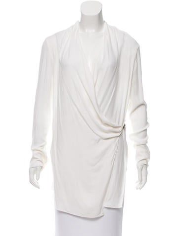 Helmut Lang Draped Tunic Top None