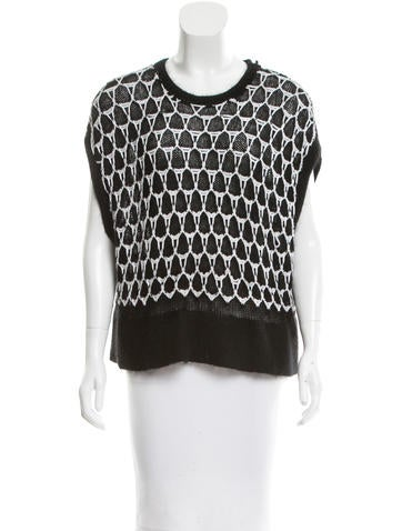 Helmut Lang Textured Open Knit Top None