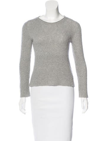 Helmut Lang Scoop Neck Cashmere Sweater None