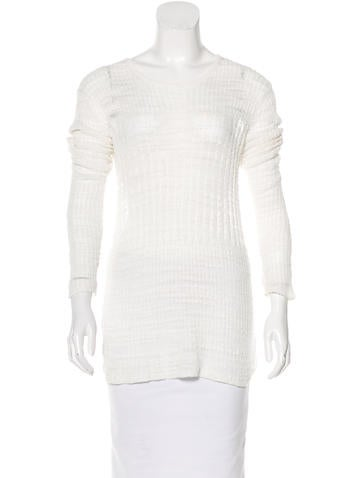 Helmut Lang Open Knit Long Sleeve Top None