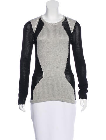 Helmut Lang Colorblock Scoop Neck Sweater None