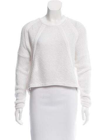 Helmut Lang Open-Knit Cropped Sweater None