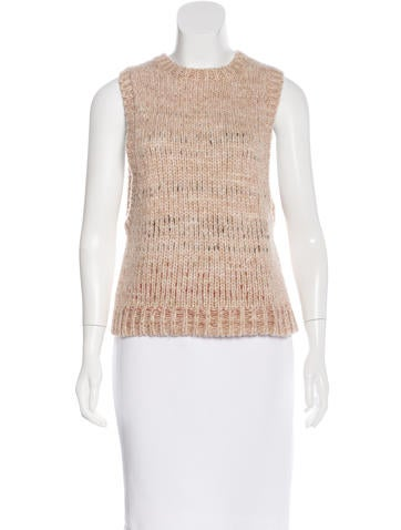 Helmut Lang Scoop Neck Sleeveless Sweater None